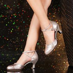 المرأة جلدي كعوب قاعة رقص سوينغ أحذية رقص