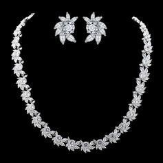 Elegant Copper/Zircon Women's/Ladies' Jewelry Sets