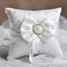 Grace Ring Pillow in Satin With Bow