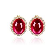Fancy Copper/Zircon/Platinum Plated Ladies' Earrings