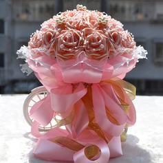 Delicate Round Foam/Venetian Pearl Bridal Bouquets