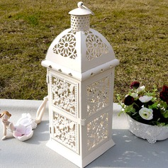 Pretty Flower Design Iron Candle Lantern