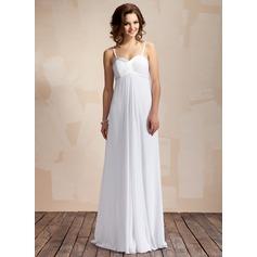 Empire Sweetheart Floor-Length Chiffon Wedding Dress With Ruffle
