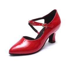 Women's Patent Leather Heels Latin Dance Shoes