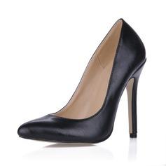 Kunstleder Stöckel Absatz Absatzschuhe Geschlossene Zehe Schuhe