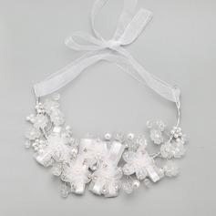 Elegant Alloy With Rhinestone/Imitation Pearls Ladies' Necklaces