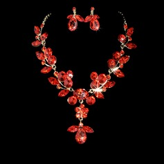 Leaves Shaped Alloy/Rhinestones Women's Jewelry Sets