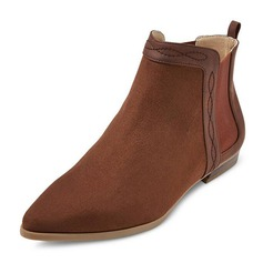 Women's Suede Flat Heel Boots Ankle Boots shoes