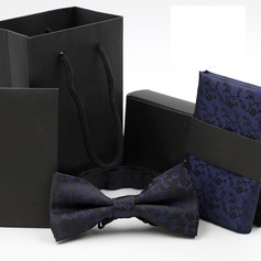 Floral Polyester Bow Tie & Pocket Square (200081824)