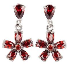 Fancy Zircon/Platinum Plated Women's Earrings