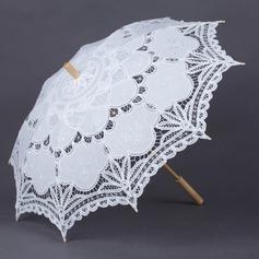 Unik Bomuld Bryllup Paraplyer