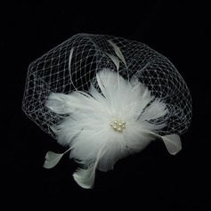 Gorgeous Pearl/Feather/Tulle Fascinators