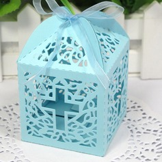Classic Cross Laser cut Favor Box - Set Of 12(More Colors) (050026303)