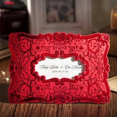 Personalized Floral Style Wrap & Pocket Invitation Cards