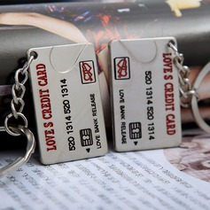 Classic Love's Credit Card Zinc alloy Keychains (set of 4 pairs)
