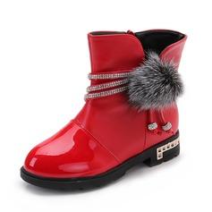 Girl's imitatieleer Flat Heel Closed Toe Flats met Strass