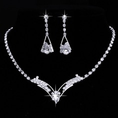 Charming Alloy/Rhinestones Ladies' Jewelry Sets (011075029)