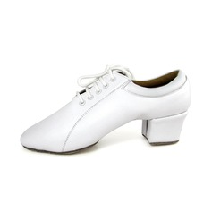 Women's Men's Kids' Real Leather Heels Modern Dance Shoes