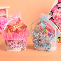 Sweet Love Basket Favor Bags With Ribbons