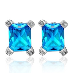 Exquisite Copper/Zircon Ladies' Earrings