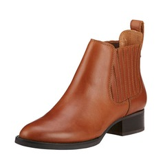 Women's Leatherette Low Heel Boots Ankle Boots shoes