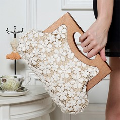 Fashional Cotton/Lace/Polyester/Wooden Clutches