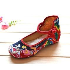Cloth Low Heel Flats Closed Toe shoes