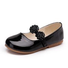 Girl's imitatieleer Flat Heel Closed Toe Flats met Bloem