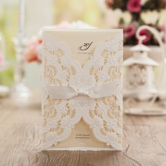 Artistic Style Wrap & Pocket Invitation Cards With Bows