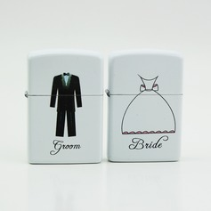 Personalized Bride And Groom Stainless Steel Lighter