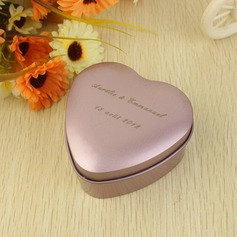 Personalized Heart Shaped Metal Favor Tin