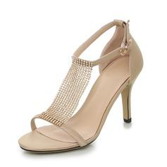 Women's Satin Stiletto Heel Sandals Peep Toe shoes