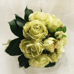 Simple Round Satin Bridesmaid Bouquets