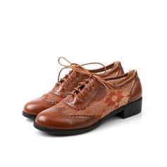 Femmes Similicuir Talon bas Chaussures plates avec Lanière tressé chaussures