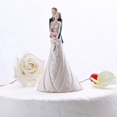 """Sweet Hug"" Resin Wedding Cake Topper"