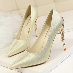 المرأة صقيل كعب ستيليتو مضخات تو مغلقة مع كعب مجوهرات أحذية (085114783)