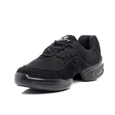 Women's Nubuck Sneakers Practice With Lace-up Dance Shoes
