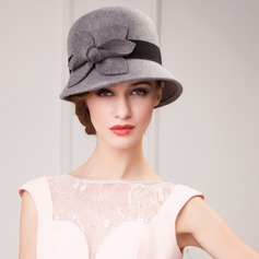 Ladies' Beautiful Autumn/Winter Wool With Bowknot Bowler/Cloche Hat