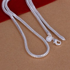 Snake Shaped Silver Plated Copper Men's Fashion Necklace (137070050)