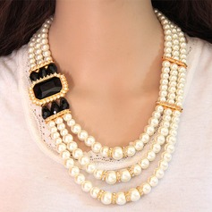 Beautiful Alloy Rhinestones Imitation Pearls With Imitation Pearl Rhinestone Ladies' Jewelry Sets