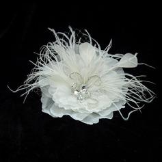 Glamorosa Crystal/Pluma/Satén Flores y plumas