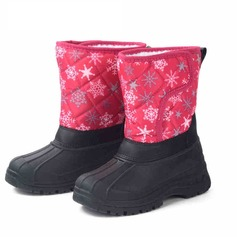 Girl's Leatherette Fabric Low Heel Closed Toe Boots