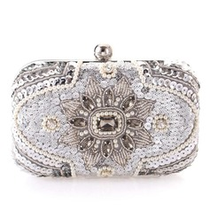 Unique Rhinestone/Imitation Pearl Clutches/Bridal Purse