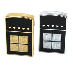 """Personalized """"Love"""" Stainless Steel Electronic Lighter"""