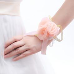 Attractive Round Satin Wrist Corsage