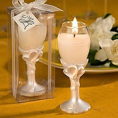 Double Heart Design Champagne Flute Candle Holders(096017654)