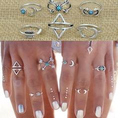 Nice Alloy Ladies' Fashion Rings (Set of 6)