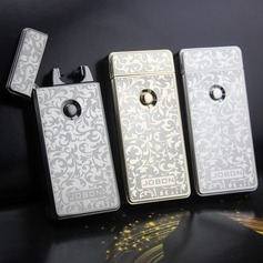 Floral Design Stainless Steel Electronic Lighter