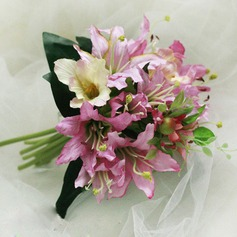 Elegant Hand-tied Satin Bridesmaid Bouquets