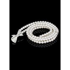 Magnifique De faux pearl Ceinture avec Strass